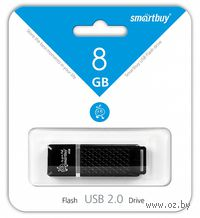 USB Flash Drive 8Gb SmartBuy Quartz (Black)