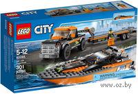"""LEGO. City. """"Внедорожник 4x4 с гоночным катером"""""""