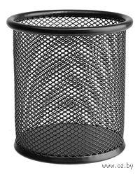 Подставка для ручек (черная; круглое основание)