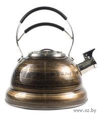 Чайник металлический со свистком и пластмассовой ручкой (2,7 л, арт. GS-0477BY)