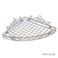 Полка для ванной угловая металлическая (58х191х267 мм)