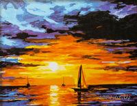 """Картина по номерам """"Закат на море"""" (400x500 мм; арт. MG060)"""