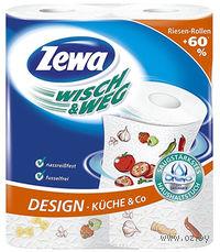 "Бумажные полотенца ZEWA ""Wisch 2 рулона)"