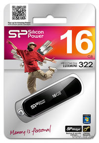 USB Flash Drive 16Gb Silicon Power Luxmini 322 (Black)