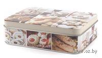 Банка для сыпучих продуктов металлическая (14,5*10,5*4,1 см, арт, Y269010)