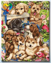 "Картина по номерам ""Веселые друзья"" (400x500 мм; арт. HB4050302)"