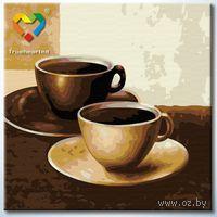 "Картина по номерам ""Кофейный дуэт"" (200x200 мм; арт. HB2020001)"