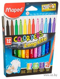 """Фломастеры """"Color Peps"""" в картонной упаковке (12 цветов)"""
