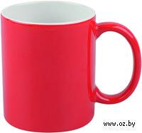 Кружка (320 мл, цвет: красный, белый)