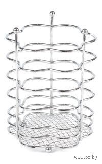 Подставка для столовых приборов металлическая (17,5х12х12 см)