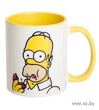 Кружка Симпсоны. Гомер (желтая)