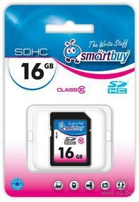 Карта памяти SDHC 16Gb SmartBuy Class 10