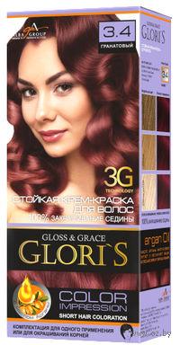 Крем-краска для волос (тон: 3.4, гранатовый)
