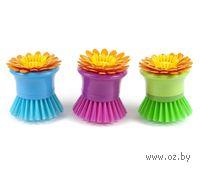 "Щетка для мытья посуды пластмассовая ""Цветок"" (8 см, арт. JC1116)"