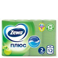 """Туалетная бумага Zewa Плюс """"Яблоко""""(12 рулонов)"""