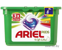 """Гель для стирки в капсулах Ariel Pods 3в1 """"Color"""" (15 шт)"""