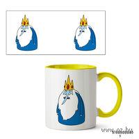 Кружка Ледяной король из Времени приключений (желтая)