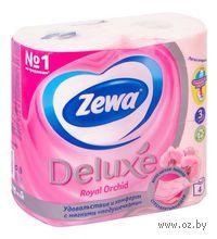 """Туалетная бумага Zewa Deluxe """"Орхидея""""(4 рулона)"""