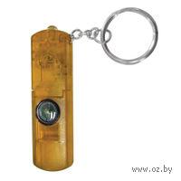 Брелок-фонарик со свистком и компасом (желтый)