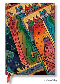 "Записная книжка Paperblanks ""Кошки Санта-Фе"" в линейку (формат: 130*180 мм, средний)"
