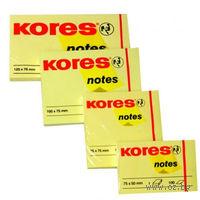 """Бумага для записей на клейкой основе """"Kores"""" (желтая; 40 x 50 мм; 300 листов)"""