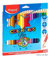 """Цветные карандаши """"Color Peps"""" (24 штуки)"""
