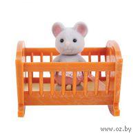 """Игровой набор """"Малыш мышонок с кроваткой"""""""