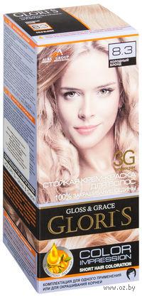 Крем-краска для волос (тон: 8.3, холодный блонд)