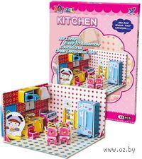 """Сборная модель из бумаги """"Кухня"""""""