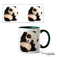 Кружка панда (509, зеленая)