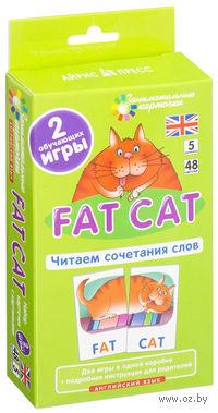 Fat Cat. Читаем сочетания слов. Набор из 48 карточек. Английский язык. 5 уровень. Татьяна Клементьева