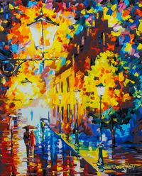 "Картина по номерам ""Огни в ночи"" (400х300 мм)"