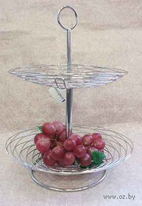 Подставка для фруктов металлическая двухъярусная (31х26х33 см; арт. XX4510)