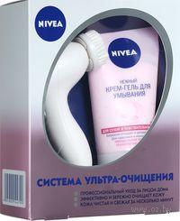 """Подарочный набор """"Ультра-очищение"""" (крем-гель для умывания + щетка для лица)"""