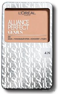 """Тональное средство """"Alliance Perfect Genius 4в1"""" (тон 4N, бежевый; 7 г)"""