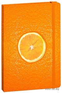 """Записная книжка в клетку """"Апельсин"""" (155х210 мм)"""