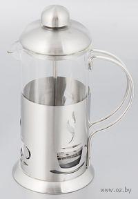Кофейник с прессом, стекло/металл, 600 мл (арт. YM-065/600)
