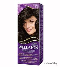 """Крем-краска для волос """"Wellaton. Интенсивная"""" (тон: 3/0, темный шатен)"""