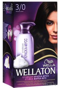 "Краска-мусс для волос WELLATON ""3/0-Темный шатен"""