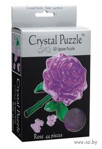 """Пазл-головоломка """"Crystal Puzzle. Пурпурная роза"""" (44 элемента)"""