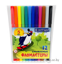 """Фломастеры """"Пингвины"""" (12 цветов)"""