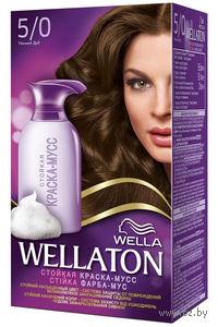"""Краска-мусс для волос WELLATON """"5/0-Темный дуб"""""""