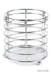 Подставка для столовых приборов металлическая (13,5х14 см; арт. XX1878)