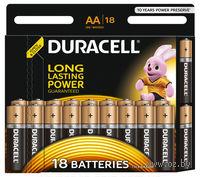Батарейка DURACELL AA LR6 MN1500 Alkaline (18 штук)