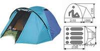 Четырехместная двухслойная палатка