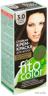 """Крем-краска для волос """"FitoСolor"""" (тон: 3.0, темный каштан)"""