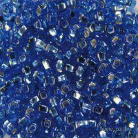Бисер прозрачный с серебристым центром №37030 (светло-голубой)