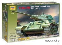 Советский средний танк Т-34/76 образца 1942 г. (масштаб: 1/35)