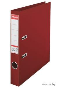 Папка-регистратор А4 с арочным механизмом, 50 мм (ПВХ, бордовая)