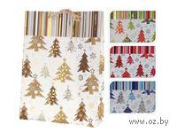"""Пакет бумажный подарочный """"Новый год"""" (25*8,5*34,5 см, арт. ABD001260)"""